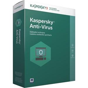 Obrázek Kaspersky Anti-virus 2021, licence pro nového uživatele, počet licencí 3, platnost 2 roky