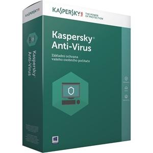 Obrázek Kaspersky Anti-virus 2020, obnovení licence, počet licencí 5, platnost 1 rok